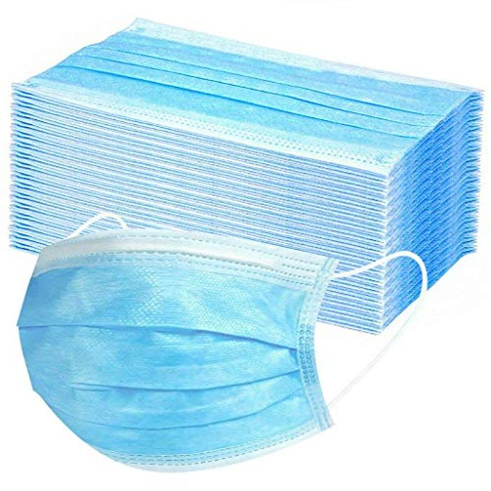 100PCS 3 Layer Clear Face Mask for Daily Use Unisex