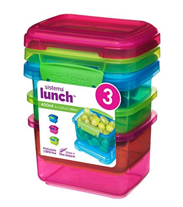 Price Drop! Sistema Lunch Food Storage Container 400ml - Pack of 3