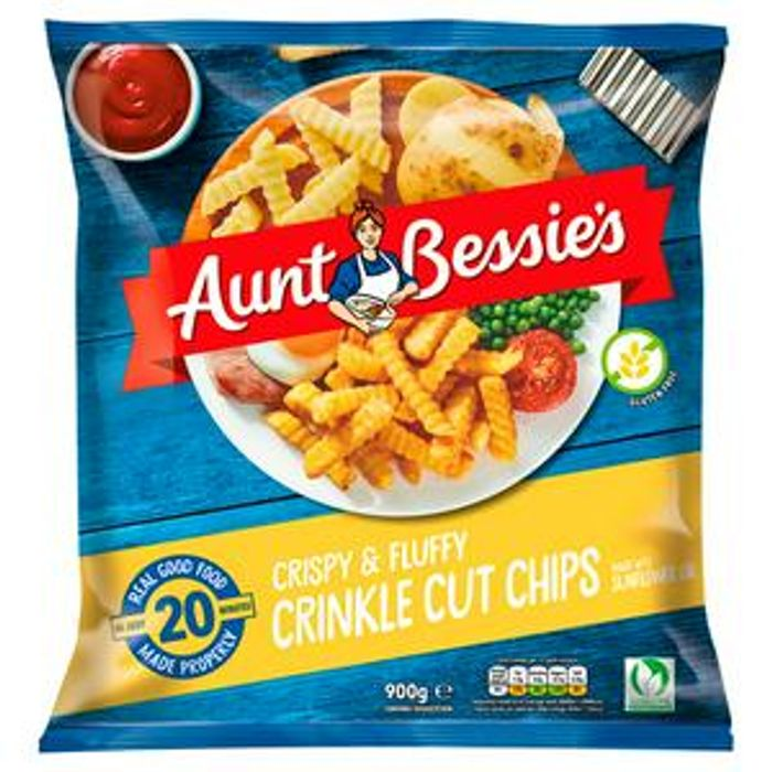 Aunt Bessie's Homestyle Crinkle Cut Chips 900g £1 at Sainsbury's