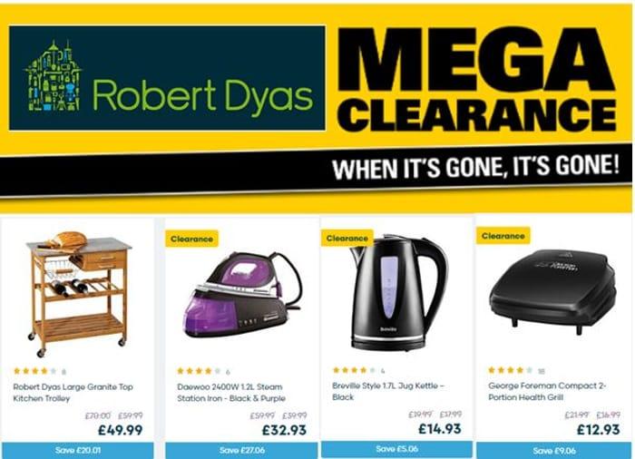 Special offer - Robert Dyas - MEGA CLEARANCE - DEALS!