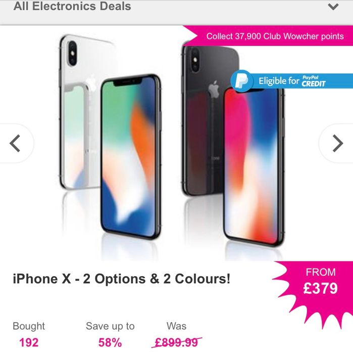 64GB iPhone X for Just £379,