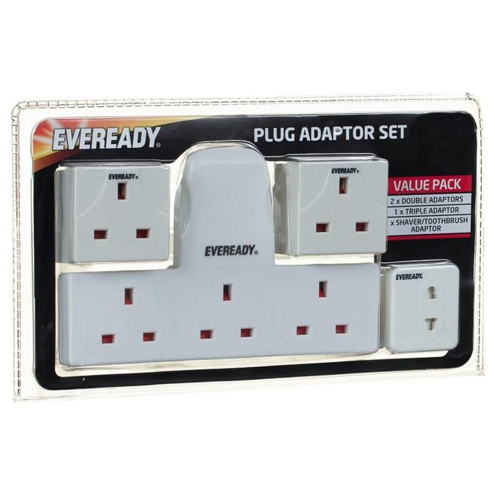 Eveready Plug Adaptor Set 4pc
