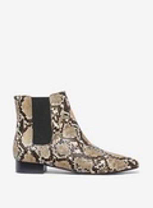 Neutral Snake Print 'Maisie' Boots