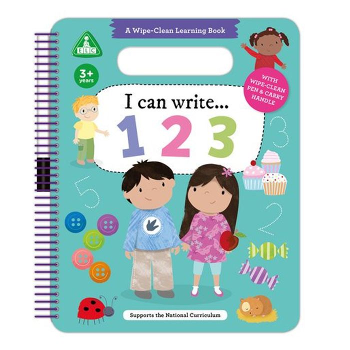 Cheap Early Learning Centre I Can Write 123 Wipe Clean Book Only £2.99!