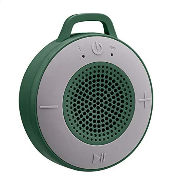 AmazonBasics Wireless Shower Speaker with 5W Driver, Suction Cup, Built-in Mic