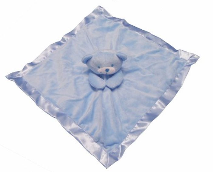 Gorgeous Blue Boys Supersoft Plush Velour Teddy Comforter/Blanket FREE Delivery