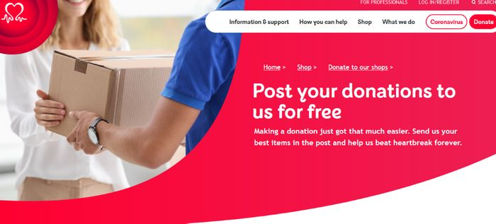 Post Your Donations to BHF for Free