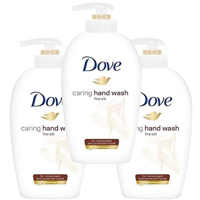 Dove Supreme Silk Beauty Moisturising Cream Hand Wash 250 Ml - Pack of 3