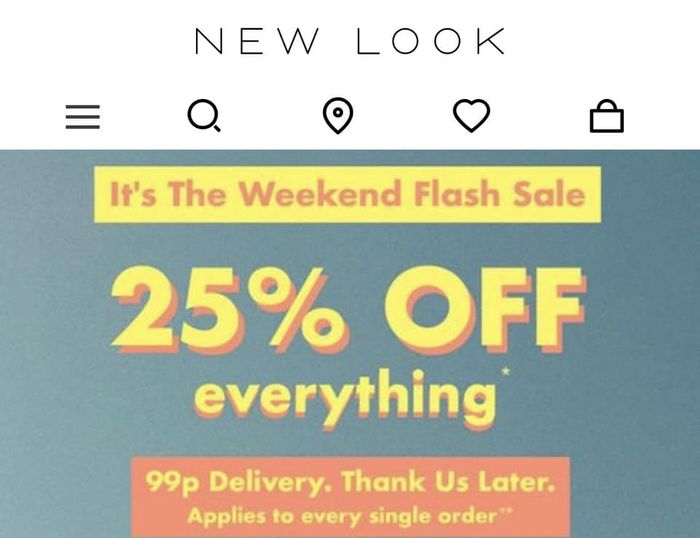 25% off Everything at New Look!!!