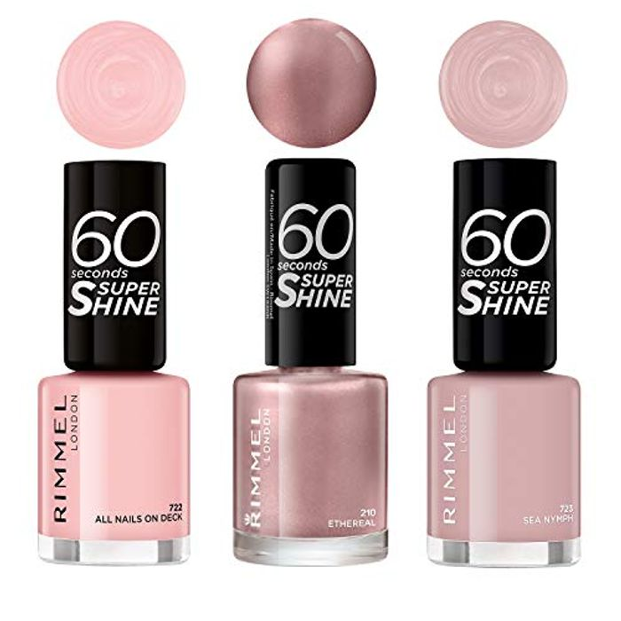 Amazon #1 Best Seller - Rimmel London Pastel Summer Trio Nail Polish (Pack of 3)