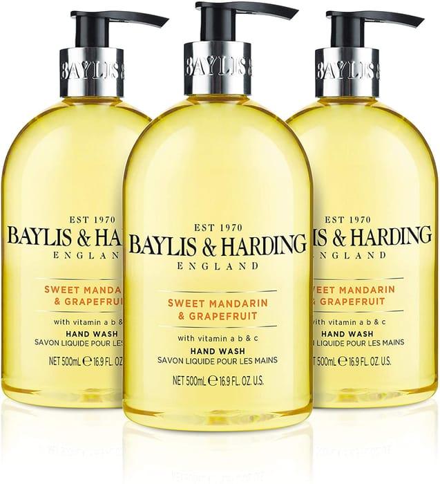 Baylis & Harding Sweet Mandarin & Grapefruit Hand Wash - Pack of 3