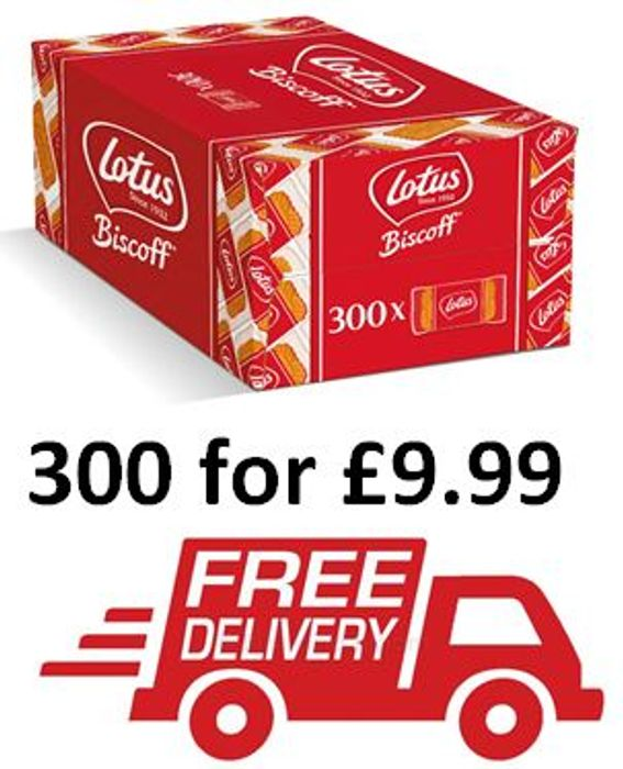 300 Lotus Biscoff Caramelised Biscuits (Individually Wrapped) £9.99 + FREE DEL.