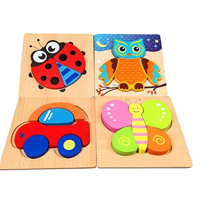 Wooden Jigsaw Puzzles Baby Toys -