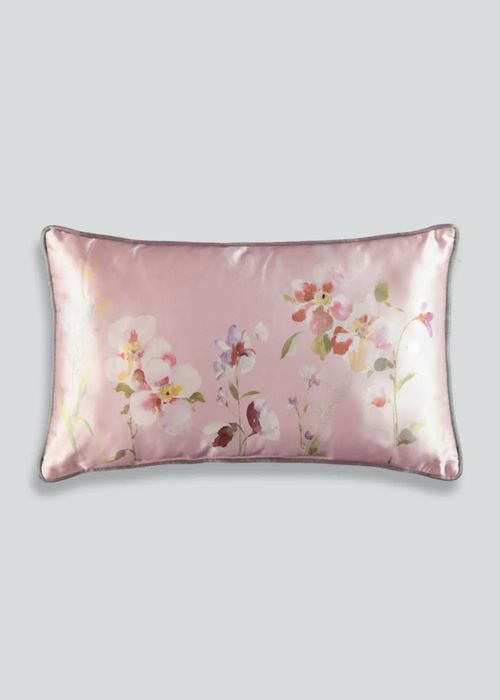 Floral Satin Cushion