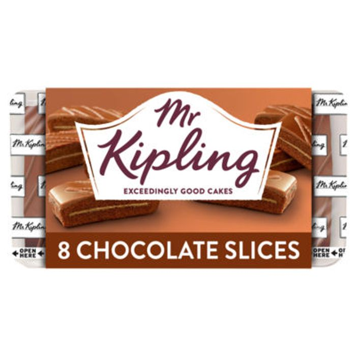 Mr Kipling Chocolate Slices 8pk