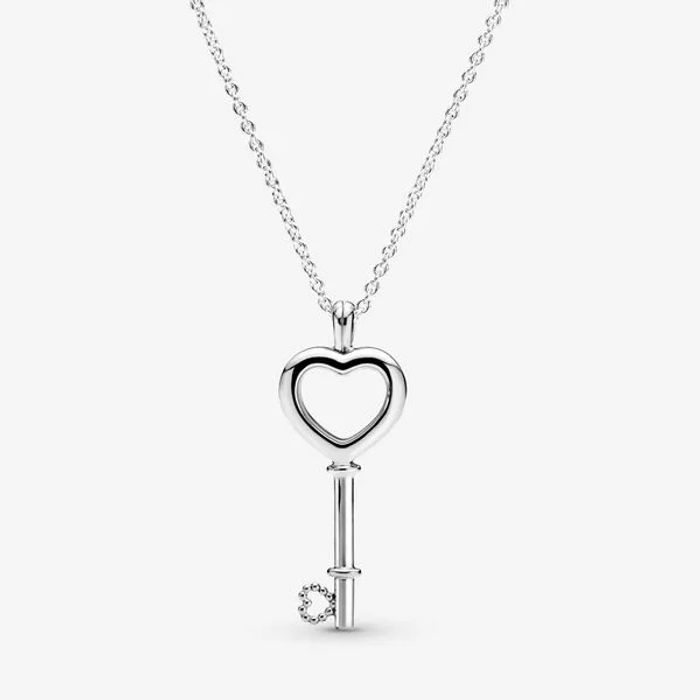 Pandora Lockets Heart Key Necklace