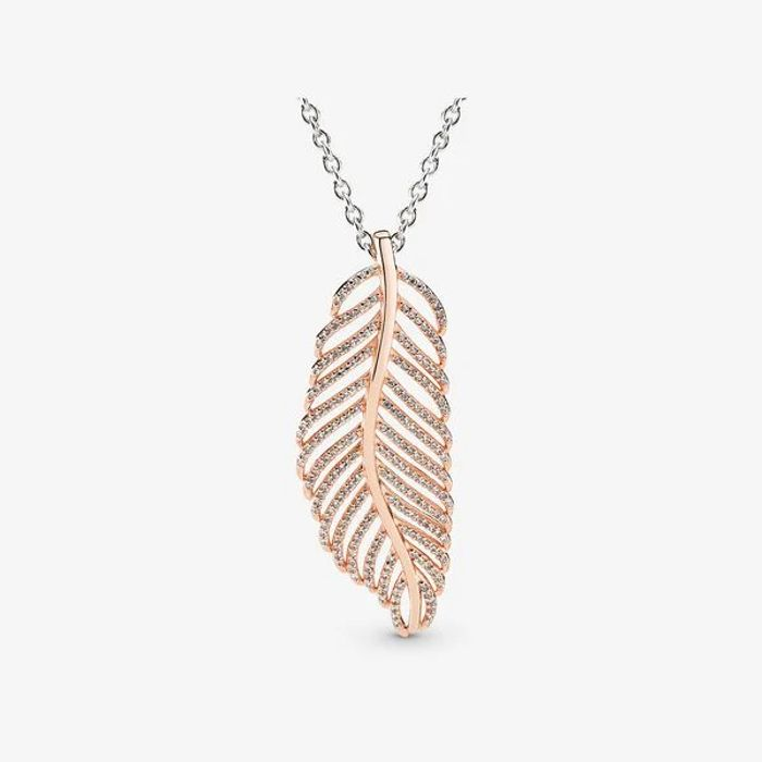 PANDORA Rose Feather Pendant