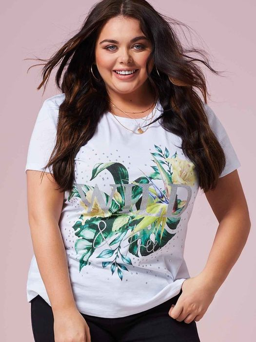 Womens White Wild & Free Slogan T-Shirt
