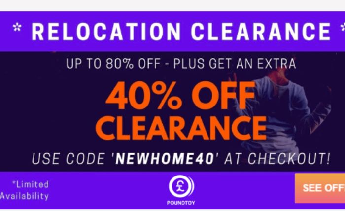 Up To 80% off + An Extra 40% Off All Orders