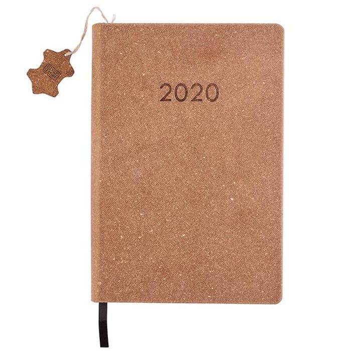 2020 Tan Medium Day to Page Diary