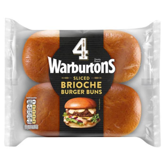 Warburtons 4 Bistro Brioche Burger Buns