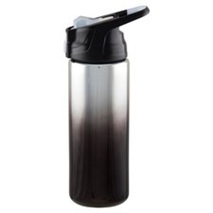 Electroplate Sipper Straw Bottle - Charcoal Ombre Or Rose Gold With Handle