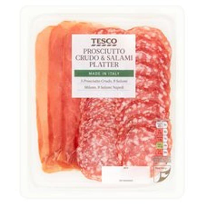 Tesco Prosciutto Crudo & Salami Platter 120G