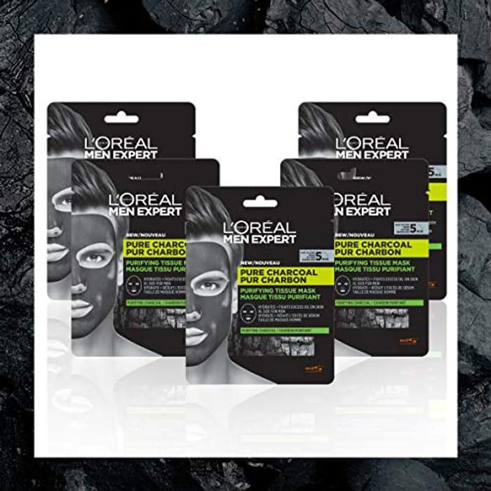 L'Oreal Men Expert Pure Charcoal Face Mask Multipack X 5