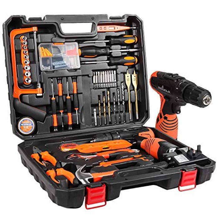 *SAVE £60* Tool Kit & 16.8V Cordless Drill With 60 Accessories