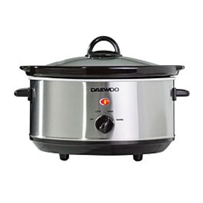 Cheap Daewoo 3.5L Slow Cooker - Stainless Steel Only £11.99