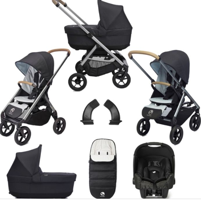 Pre-Order Easywalker Mosey+ Travel System & Carrycot Bundle - Charcoal