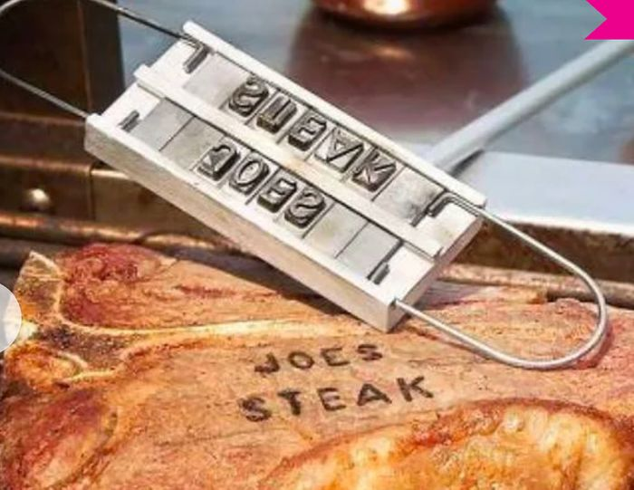 Personalised Barbecue Branding Iron Tool (+ £3.99 P&P) - Father's Day Idea!