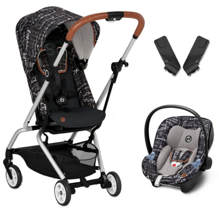 Cybex Eezy S Twist Gold Fashion Edition 360 Travel System- Grey or Red