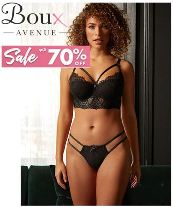 SEXY LINGERIE! Up To 70% Off Lingerie Sale at Boux Avenue