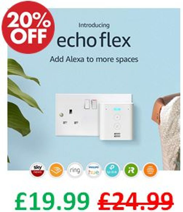 Echo Flex Voice Control Smart Home Devices with Alexa