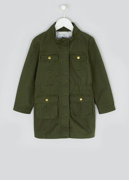 Girls Khaki Cargo Jacket (4-13yrs)