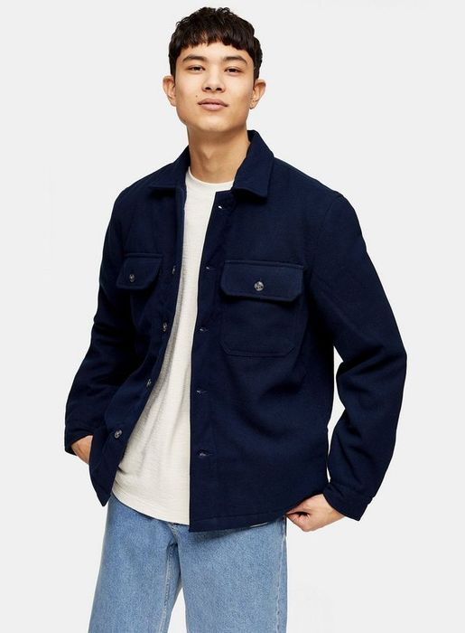 Navy Quilted Overshirt - Better Than 1/2 Price
