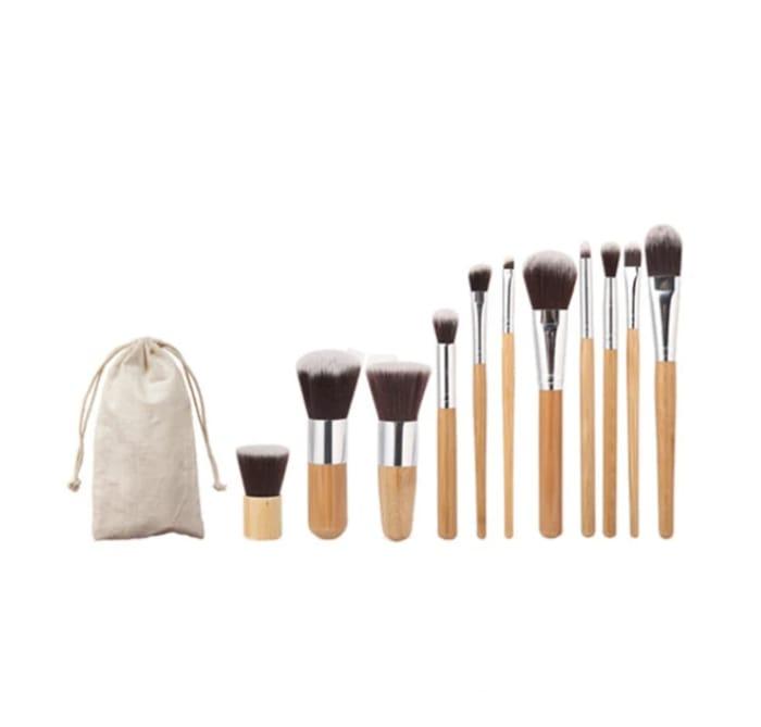 SAVE 56% the Bamboo Professional 11pcs Makeup Brush Set