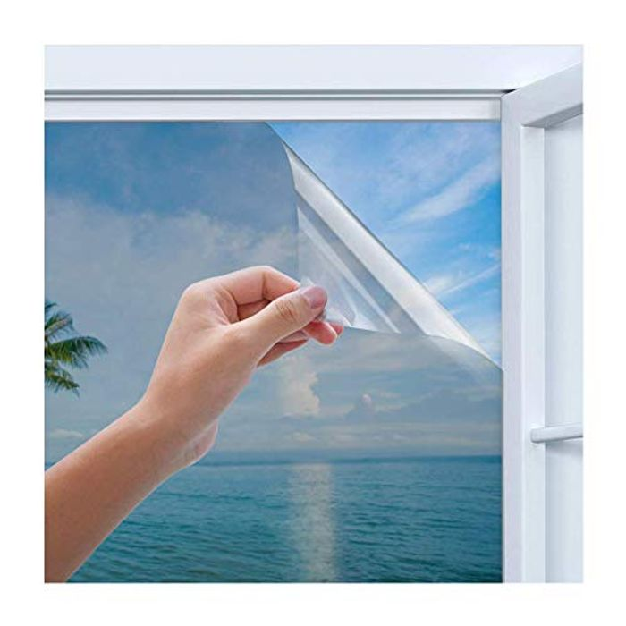 Privacy Window Film, Homegoo One Way Silver Reflective Adhesive