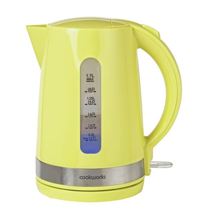 Cheap Cookworks Illumination Kettle - Green or Red Only £9.99