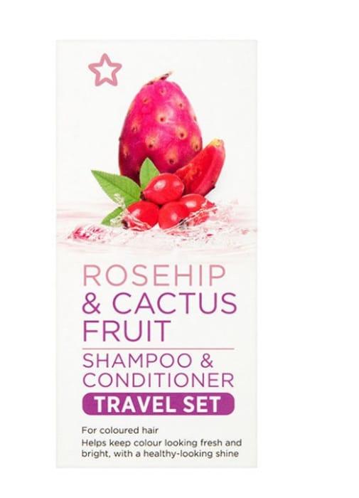 Superdrug Rosehip & Cactus Fruit Shampoo & Conditioner Set Travel Size