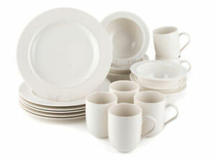 Alessi COMBO-1913 La Bella Tavola Porcelain Six-Place Plate, Bowl and Mug Set