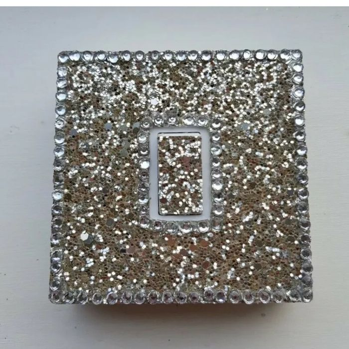 Glitter Light Switch Cover. Bling!! Not vinyl.No glue.Glam.