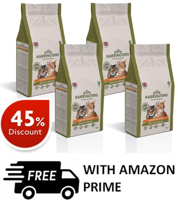 Harringtons Complete Cat Food Chicken, 2 Kg, Pack of 4