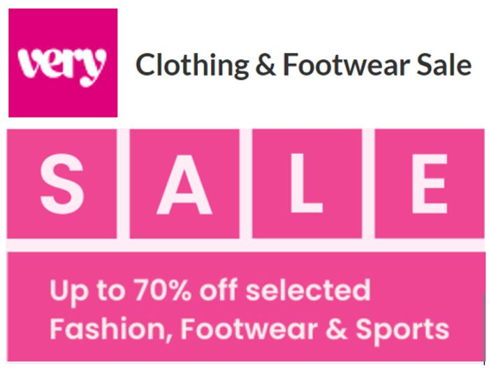 Special Offer - Up to 70% off Fashion, Footwear, & Sports - VERY SALE