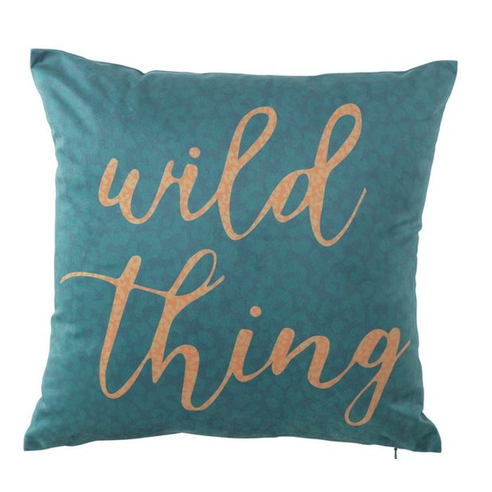 Wild Thing Velvet Cushion - Green
