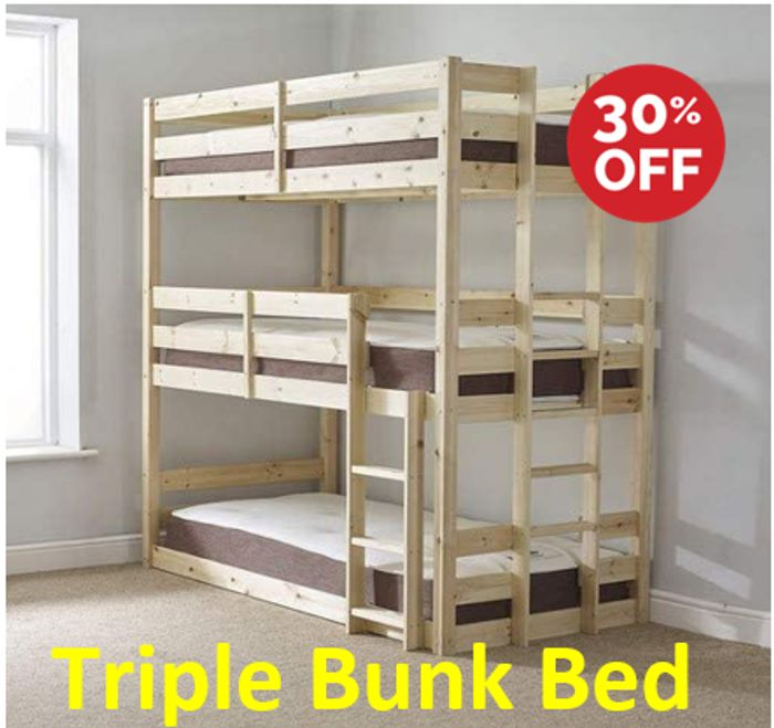 Triple Bunk Bed - 30% Off