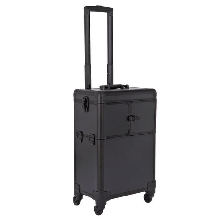 Trolley Cosmetic Vanity Case - Black - Save £13.5