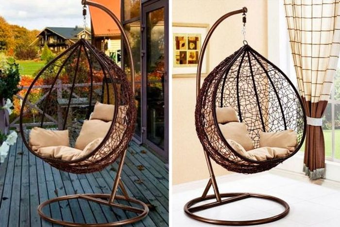 Outdoor Rattan Hanging Egg Chair - Perfect for Relaxing in Your Garden :)