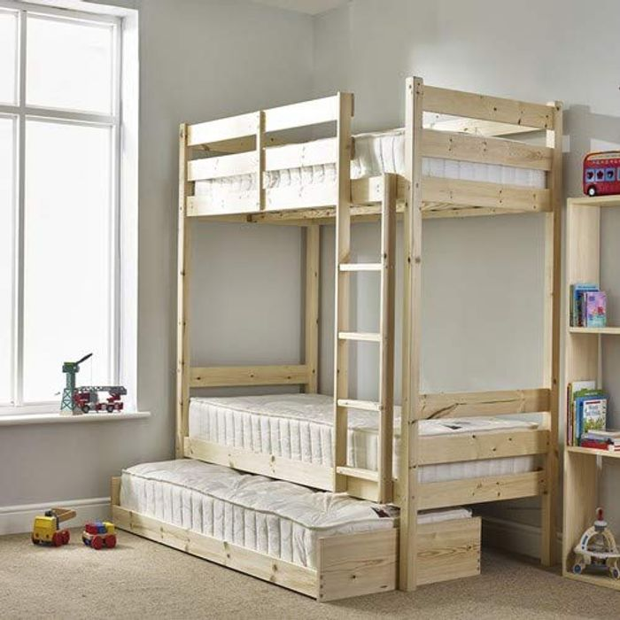 Bunk Bed with Guest Bed - 3ft Single Bunkbed with Pull out Trundle